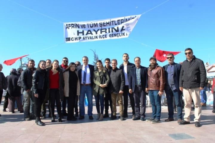Ayvalık'ta CHP'li Gençlerden Afrin Şehitleri İçin Lokma Hayrı